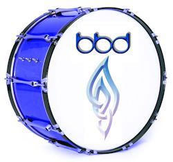 blue bass drum